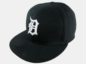 Retro Detroit Gömme Şapkalar Beyzbol Düz Brim Şapkalar Boyut Topu Caps Kaplanlar Takımı Chapéu Kemik De Beisebol uyar Caps