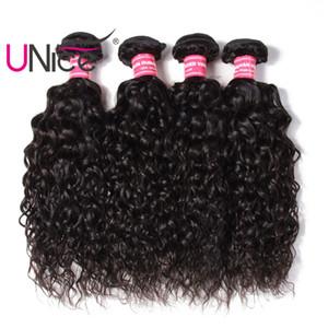 UNice Cheveux Vague D'eau Bundles Brésiliens Faisceaux de Cheveux Humains Vierge Extensions de Cheveux Humains Remy 4 Bundles Pas Cher Non Transformés En Gros Belle Trame