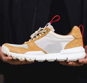 Mode Tom Sachs x Artisanat Mars Yard 2.0 TS NASA Chaussures hommes femmes Naturel Casual Baskets Chaussure Rouge Zapatillas Vintage Taille 36-45