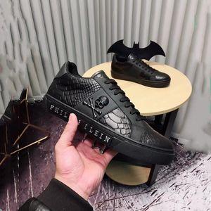 2018 Hohe Qualität Männer Laufschuhe Männer echte Luxusmarken Das Skelett Die Krokodilkorn Leder Casual Turnschuhe Kleid Schuhe