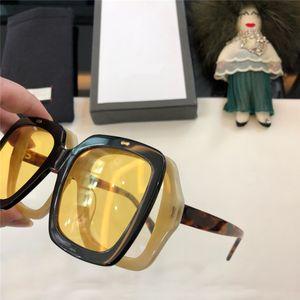 New arrival 0088 Top Quality designer Square Frame Flip-up Sunglasses Women Sunglasses men sun glasses with original box Sunglass