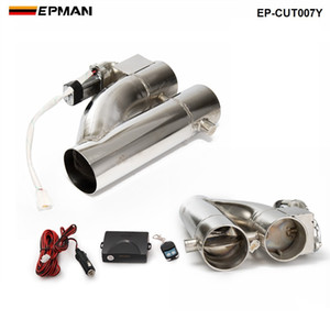 "2 ""/2,2522,5 ""/3"" tubo de escape producto patentado escape eléctrico Downpipe recorte E-Cut Out controlador de doble válvula Kit remoto EP-CUT007Y"