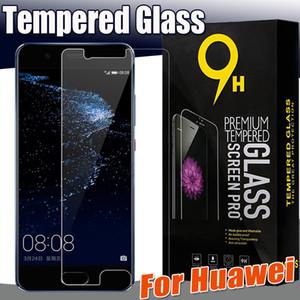 Protetor de tela de vidro temperado à prova de explosão premium 9 h guarda para huawei p20 pro p10 plus lite mate 9 lite honor 9 v9 5x caixa de varejo