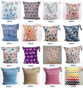 Sac à langer étanche pour nouveau-né Wet / Dry Bag - Hibou Wet / Dry Cloth Linger Bags Wet Swimsuit Bag Animal imprimé par Melee WetBag 33 * 28cm