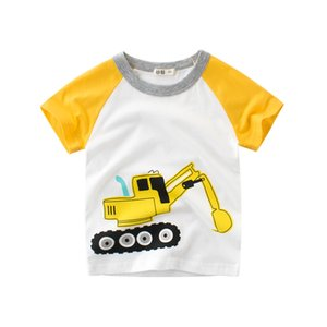 2 to 8 years summer boys car printed Tees, Children printing fashion Tops, baby kids boutique cotton clothing, retail, R1AZB809TP-29