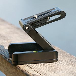 Оптовая Z Flex Tilt штатива алюминиевый сплав складной Z Tilt Head Quick Release пластина стенд крепление спиртовой уровень для телефонов камеры