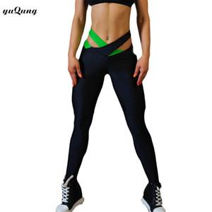 yuqung Leggings casuali Leggings per il fitness da donna cross vita Allenamento nove pantaloni Leggins nuovi pantaloni elastici Legins per le signore H89