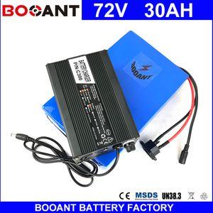 BOOANT E-Bike Li-ion Аккумулятор 72 В 30AH для Bafang 3000 Вт Двигателя Электрический Батарея Велосипеда с 5A Зарядное Устройство 50A BMS Бесплатная Доставка