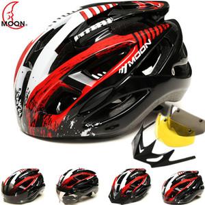 Hot Bicycle Helmet Integralmente-moldado Estrada / Montanha / MTB / Trial Bike Capacete de Ciclismo 1 * destacável Visor / 2 * Óculos de Absorção magnéticos