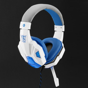 SY830MV Deep Bass Game Headphone Stéréo Over-Ear Gaming Headband Bandeau Écouteur avec MIC Light pour Ordinateur PC Gamer