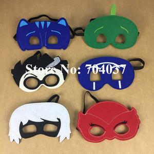 (30 peças / lote) nova festa de aniversário suprimentos crianças fingir máscaras de feltro exposição máscaras PJ fantasia