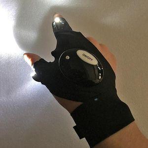 1 Pcs Repairing Finger Gloves Light - LED Glove Flashlight Torch Mini Portable Light Multi-use for Camping Hiking Fishing