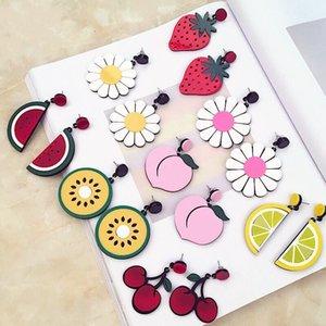Orecchini di frutta esagerati Personaggi coreani Orecchini ragazze