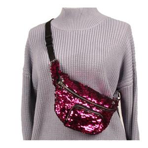 2018 блесток блеск талии Fanny Pack пояс Bum сумка Русалка блесток кошелек сумка карманный клатч блестки талии сумка