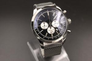 2019 Novos Produtos dos homens Mostrador Azul Caixa De Aço Inoxidável Strap Relógio Digital Montreux Hommme Assista 1884 Navitimer coleção