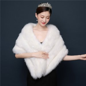 2019 Wedding Wedding Shawl Imitation Mink Wedding Dress Accessories Boutique Boutique Wraps para mujeres en cualquier ocasión