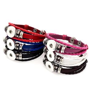 Nouvelle arrivée Noosa snap boutons bracelet 18mm gingembre s'enclenche charme multi-couche tressé wrap bracelets pour les femmes