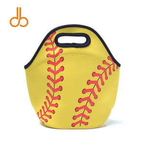 Neoprene Softball Lunch Tote Bag Wholesale Blanks Cooler Carrier Bags Baseball Sports Series Food Carrier DOM106509