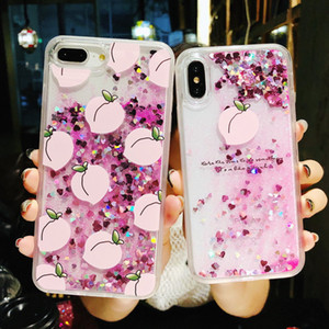 Newest! Dynamic Liquid Glitter Quicksand Sequins Phone Cases Flamingos Back Cover Case Coque For iPhone X 8 7 6