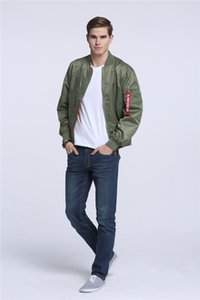 Designer Men Ma1 Army Green Tactical Military Varsity Flight Giacca a vento Pilot Us Air Force Bomber Jacket per abbigliamento uomo