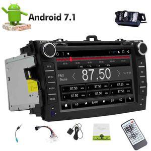 Android 7.1 Octa Çekirdek Çift din GPS Navigasyon VCD USB SD 2 din Toyata Corolla için Araba DVD Oynatıcı (2007-2013) Bluetooth Monitör