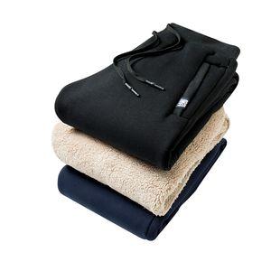 Loldeal pile spessi pantaloni pantaloni della tuta uomini al di fuori inverno biancheria intima dei pantaloni caldi Etero Mens Fleece Heavyweight Zipper 8XL