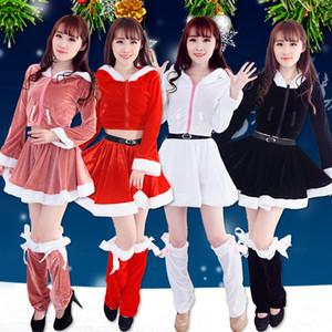 Barato Festivo Festival de Navidad Vestidos de fiesta Abrigos de Cosplay Faldas Calentadores de la pierna Invierno cálido vestido de las mujeres niñas