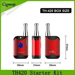 الأصلي kangvape TH420 كاتب كيت 650 مللي أمبير الجهد قابل للتعديل TH420 كاتب كيت صندوق البطارية وزارة الدفاع 0.5 ملليلتر سميكة خرطوشة خزان النفط ce3