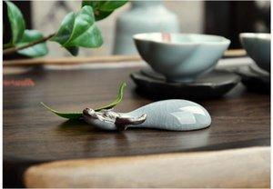 Trasporto 7g tieguanyin tè + vendita calda alto argilla bovini fortunati cinese tè animal ru four migliore decorazione della casa del tè acces