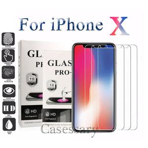 واقي شاشة صلب مقاوم للكسر بحماية زجاجية لجوال XR XS MAX، iPhone 8، 7، 6 Anti-Shatter Anti-Fingerprints 0.26mm 2.5D 9H Hardness