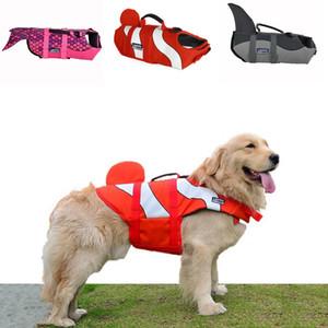 Giacche di salvataggio per cani Cappotto Pet Safety Costume da bagno Galleggiamento Life Vest Preserver Mermaid Nemo Shark 3 Taglie