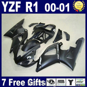Venda quente kit de carenagem para YAMAHA R1 2000 2001 carenagens pretas YZF R1 00 01 RF35