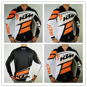 브랜드 KTM 모터 크로스 유니폼 T 셔츠 OFF ROAD 오토바이 자전거 사이클링 유니폼 통기성 운동복 MTB 다운 힐 저지 빠른 건조