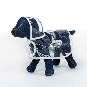 Marke Dog Raincoat Transparent kleine Hunde Regen Mantel Wasserdicht Welpen Regenmäntel Regenbekleidung Sommer-Haustier-Kleidung Hundebedarf 3 Designs YW1003