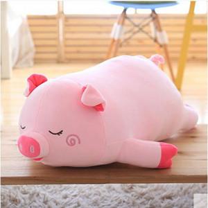 Доримитрадлер поп милый 100см большой мягкий мультфильм лежат свиньи плюшевые подушки 39 '' большие животные свиньи фаршированные кукла игрушка детский подарок Dy60593