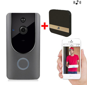 HD 720 P WI-FI Визуальный Дверной Звонок Беспроводной Домофон Дверной Звонок Камера PIR Обнаружения Движения Ночной Вид Видео Смарт-Кольцо Дверной Звонок с внутренний звонок A2