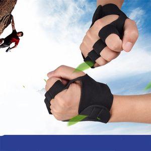 All'aperto Bodybuilding Guanto Mezzo Finger Esercizio Antiscivolo Guanti Fitness Per Arrampicata Ventilazione Palestra Polsi Guard 4 7mw Ww