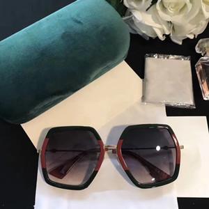 Moda Lüks Kadınlar Marka Tasarımcı Güneş Gözlüğü 0106 Kare Büyük Çerçeve Yaz cömert Tarzı Karışık Renkli Çerçeve Üst Kalite UV Koruma Lens