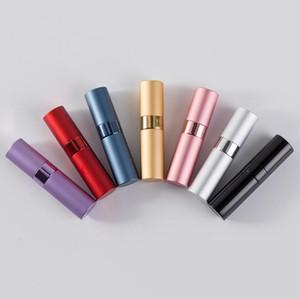 108 UNIDS 15 ML Portátil Perfume de Viaje Atomizador Vidrio Aluminio Recargable Perfume Spary Botella Con DHL Envío Gratis SN1978
