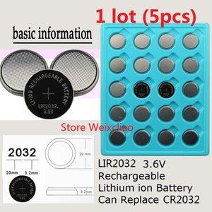 5 шт. 1 лот LIR2032 3.6 В литий - ионная аккумуляторная батарея 2032 3.6 вольт литий-ионная монета батареи заменить CR2032 Бесплатная доставка