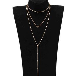 Women Long Necklace Retro Fashion New Necklace Trend Multi - Storey Street Sexy Peach Heart Pendant Necklace Colar Feminino