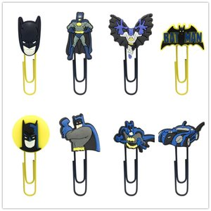 Free Shipping Bat Man Bookmarks Cartoon Metal Paperclips School Stationery Supplies Creative Bookmarks Kids Favor Gifts