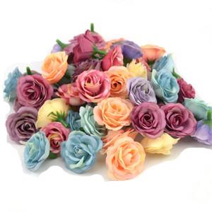 3 cm Mini Rose Pano Flor Artificial para Festa de Casamento Em Casa Decoração Do Quarto Sapatos de Casamento Chapéus Acessórios de Seda Flor 10 pçs / lote