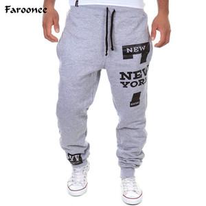 Faroonee nouveaux hommes pantalons 7 lettres imprimées pantalons de jogging Joggers coton masculin lacets pantalons décontractés pantalons, plus la taille 3XY379