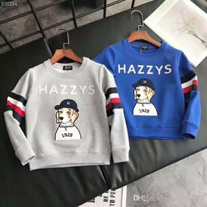 2018 new Foreign trade original single cartoon dog printing embroidery head round collar long sleeve Hoodies & Sweatshirts