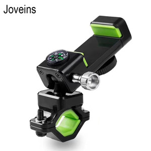Bike Compass Flashlight Phone Holder LED Mount for Phone Stand Bracket Motorbike Fastening Lazy for iPhone X 7 8 samsung S8 Note