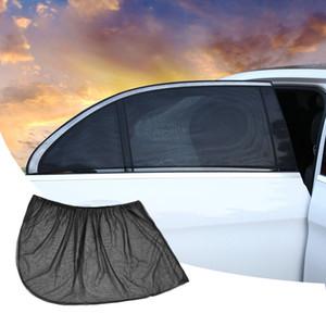 Car Windows Protective Film Black Mesh Heat Insulated Sunblocking Side Window Car Sunblocking 2 PCS  set