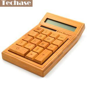 Adquiera CS19 Calculadora Bamboo Solar Calculator Wood Scientific Calculator 12bits 18keys Hesap Makinesi Calculadora Financeira