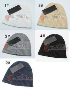 Kış Adam Yün Şapka Bereliler Kadın Caps Sonbahar Sıcak Şapka Moda Örme Şapka Erkek Ve Kadın Şerit Örme 5 Renkler Ücretsiz Kargo