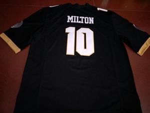 Hommes UCF Knights McKenzie Milton # 10 broderie complète College Jersey réel Taille S-4XL ou personnalisé tout maillot nom ou numéro